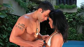 Fabiana High Definition sex Movies This jazzy evening super horny sinful Fabiana sucks Roge Ferros weenie at backyard Ferro