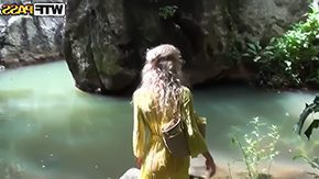 Free Forest HD porn videos Natural blonde Tiffany walking in woods meeting there some tight upstanding dyke she sucks his secondary brain fucks with him