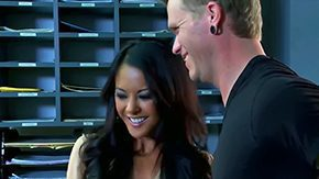 Free Indonesian HD porn The prepossessing brownish hair pornstar Kaylani Lei with scrumptious natural tits gets seduced by guy