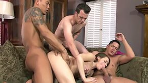 Ashlynn Leigh, 4some, Babe, Ball Licking, Banging, Bed