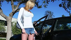 Car, Bend Over, Blonde, Car, Doggystyle, Fucking