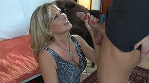 Boy Mature, Aunt, Bed, Blonde, High Definition, Housewife