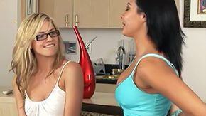 HD Sandra Romain tube Marlie Moore and Sandra Romain natural blonde gark-haired homosexual chick girlie fine undress lick bed home glasses dress finger fuck face sitting pleasing boobs