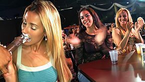 Fffm, Blonde, Blowjob, CFNM, Clothed, Club