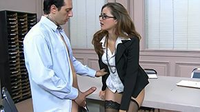 HD It's a standard situation when a secretary gets fucked by her nasty boss