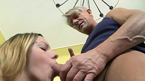Grandpa, Aged, Babe, Ball Licking, Blowjob, Dad