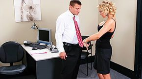 Master, Bend Over, Blonde, Cute, Desk, Doggystyle
