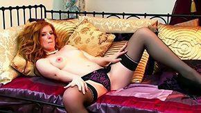 Free Nicole Hart HD porn Redhead tramp Nicole Hart spreads her sexy legs masturbates with fingers