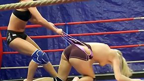 Wrestling, Babe, Banging, Bed, Bend Over, Big Pussy