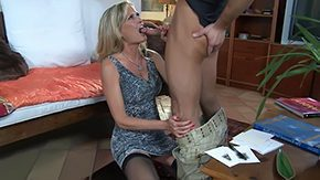 Mom And Son, Aunt, Bend Over, Best Friend, Blonde, Blowjob