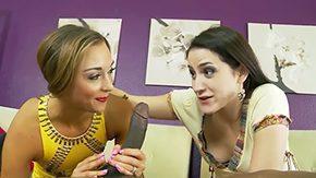 Free Addie Juniper HD porn Mother in law Addie Juniper teaches her spicy stepdaughter Marry Lynn how to suck long weenie