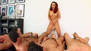 Orgy, Ball Licking, Banging, Blowbang, Blowjob, Choking