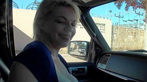 Alice Frost, Amateur, Blonde, Blowjob, Boobs, Car
