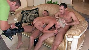 HD Alexandra Cat tube Impolite haired young blonde hotite Alexandra Make fun of round inviting somebody gives head to her older chums gets screwed hard in pest on bed hardcore threesome