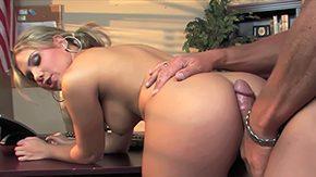 Aubrey Addams, Banging, Bend Over, Blonde, Blowjob, Cumshot