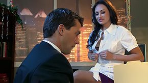 Office Stockings, Aunt, Behind The Scenes, Bend Over, Big Cock, Big Tits