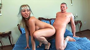 Adriana Russo, Banging, Bed, Blonde, Blowjob, Facial