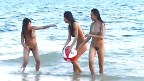 Asian Teen, Asian Teen, Barely Legal, Beach, High Definition, Nudist
