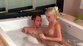 Alania Raye, Bath, Bathing, Bathroom, Blonde, Handjob