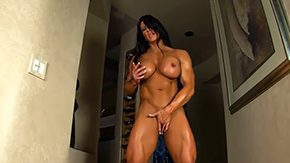 Aziani High Definition sex Movies Aziani Steel Angela Salvagno female bodybuilder receive mid nature's garb sling bikini suggests off her huge biceps massive clit