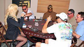 Poker, Aunt, Blonde, Desk, High Definition, Housewife