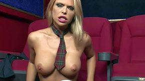 Cinema, Big Cock, Big Natural Tits, Big Pussy, Big Tits, Blonde
