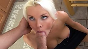 Brad Thunders HD porn tube Blue eyed blond suggestive teacher mom fellatio home kitchen thin female eyes move the tongue across table