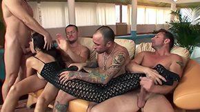 Greg Centauro, Bitch, Bodystocking, Brunette, Facial, Fucking
