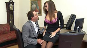 Office Stockings, Aunt, Beauty, Big Tits, Black, Boobs