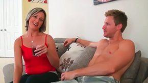 Misty Anderson, Aunt, Big Tits, Blonde, Blowjob, Boobs