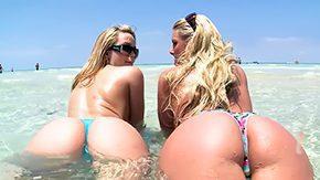 Assparade, American, Ass, Beach, High Definition, Lesbian