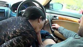 Car Blowjob, Ball Licking, Blowjob, Car, Choking, Cumshot