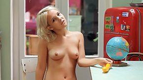 Kitchen, Ass, Blonde, Blowjob, Boobs, Cigarette