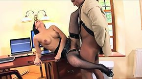 HD Renata Black Sex Tube Blackness secretary Renata Black full-length round tits glasses in the midst of fishnet stockings latest heels gives acid-head to muscled client gets her butt