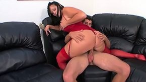 Lick, Ball Licking, Blowjob, Boss, Brunette, Choking