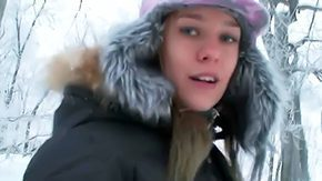 Free Aiden Blue HD porn videos Clothed maiden Blue Angel fooling around outdoor in the midst of snow during winter Just see her in the midst of provoking tight fitting pants with satisfactory