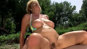 Grandma, Aged, Aunt, Ball Licking, Banging, Blowjob