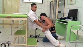 Doctor, Babe, Ball Licking, Banging, Blowjob, Choking