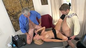 Free Brittany Angel HD porn Aged boss invited his young son to visit his office taste something He called his secretary Brittany Angel offered her fine 2 males 1 female sex with his