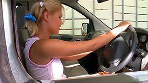 Backseat, Backseat, Beauty, Blonde, Car, Cute