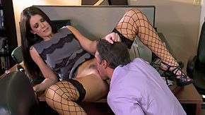 Office Stockings, Aunt, Bend Over, Bitch, Blowjob, Brunette