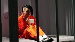 Prison, Babe, Ball Licking, Banging, Blowjob, Choking