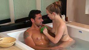 Ryan Driller, Amateur, Bath, Bathing, Bathroom, Brunette