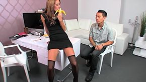 Female Agent HD porn tube Asian casting has sexual intercourse damsel agent amazingly well Hotty Agent damsel agent
