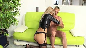 Leather, Babe, Bed, Bend Over, Big Black Cock, Big Cock