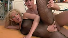 Fishnet, Babe, Banging, Bed, Bend Over, Big Pussy