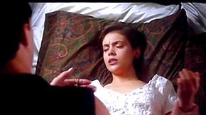 Vintage Teen HD tube Alyssa Milano in nature's garb - Arrogate of the Vampire (1995) - away from Testing Celebrity HD