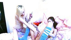 Alice, Blonde, Brunette, Dildo, Flat Chested, Lesbian