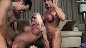 HD Alura tube 4 Way Fun Ashlee, WildKat, and Alura natural blonde devotion girl variety sex hardcore