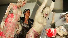 Bizarre HD porn tube Wild gals' sticky-gooey fun